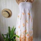 Легкий воздушный сарафан летнее платье миди на завязках