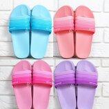 Шлепанцы женские Flip flops Bubble влагостойкие облегченные голубые-бирюза пудра розовые фиолетовые