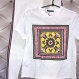 Комплект джинсы футболка Zara