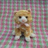Игрушка мягкая рыжая маленькая кошка Chessie от Russ Berrie, длина 11см