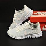 подростковые кроссовки Nike Free Run 3.0 белые