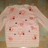 Яркий джемпер, полувер, кофта, свитер LC Waikiki 5-6 лет 110-116 см