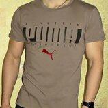 Мужская футболка Puma кофе.