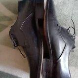 туфли мужские кожаные exlusiv laiser 9 размер стелька 29см