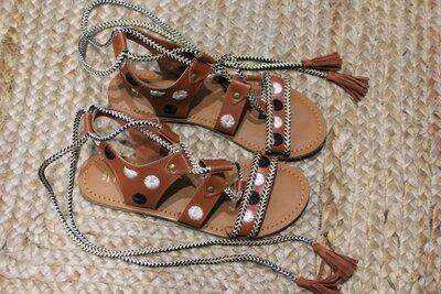 Кожаные босоножки сандалии гладиаторы Next размер 38 будут и на 37