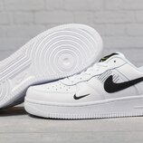 Кроссовки мужские Nike Air Force, белый с черным
