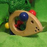 Мыша.мышка.мишка.миша.погремушка.колотушка.деревянные игрушки.деревяні іграшки.Selecta Spielzeug