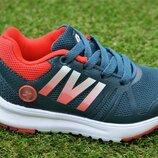 Детские кроссовки Nike найк серые красный сетка на мальчика р26-30