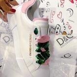 Женские кожаные кеды Dolce Gabbana