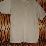 Тениска бежевого цвета marks & spencer р.l,100%коттон.