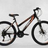 Велосипед Спортивный CORSO 26 дюймов 97388 BLACK/ORANGE