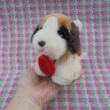 Игрушка мягкая собака собачка сенбернар от Russ Berrie, длина 13см