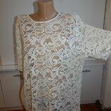 блузка гипюровая ажурная модная р18 батал