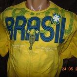 Катоновая стильная футболка Бразилия Soccer.м-л .