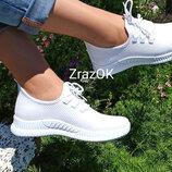 Белые кроссовки кеды слиноны мокасины текстиль летние базовые