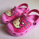 Сабо crocs hello kitty размер j1 32 20 см оригинал