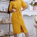 Стильное летнее платье с карманами. Размер S-M, L-XL.
