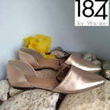 Туфли 1874 by walder р.39 кожа ручная работа розовое золото