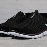 Кроссовки мужские летние Nike Free 3.0, черные с белым