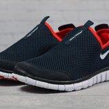 Кроссовки мужские летние Nike Free 3.0, синие с красным