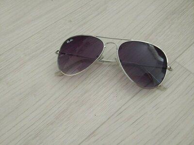 Очки стильные от солнца Ray ban авиаторы Рей бен