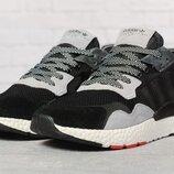 Кроссовки мужские Adidas Nite Jogger Boost черные с серым