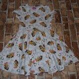 хлопковое платье бель девочке 8 - 9 лет Disney