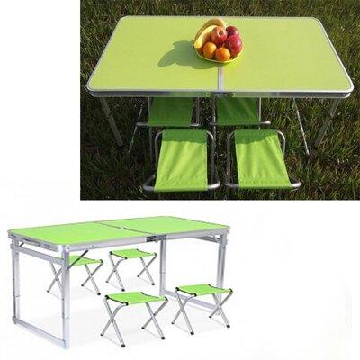 Стол раскладной 4 стула Folding table N0.4 Зеленый