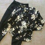 Классная блузочка в цветочный принт, вискоза