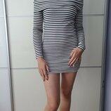 Платье в рубчик на плечи ZARA