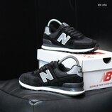 Мужские кроссовки New Balance 574 черные,синие,замшевые
