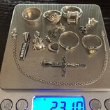 Лот изделий из серебра