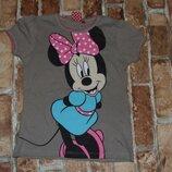 футболка котон сток девочке 4 года Disney мини маус