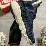 Nike Footscape Woven Suede Blue.