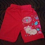 Шорты красные для девочек 1-4 года