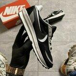 Кроссовки Nike LD Waffle Sacai Black White.