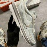 Кроссовки Nike LD Waffle Sacai Triple White.