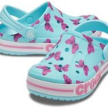 Босоножки клоги Crocs Kids Bayaband Clogs кроксы для девочки J1 J3 оригинал