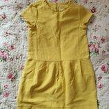 Платье Zara желтое 10-12 лет, рост 152 см