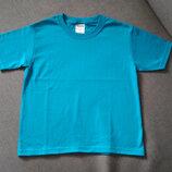 Футболка Jerzees Usa мальчику и девочке, голубая, размер S 6-8 - новая