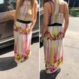 Модное шифоновое платье-сарафан