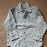 Рубашка джинсовая South Bay USA, хлопок, мальчику на 3-6 лет