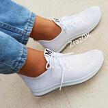 Белые кроссовки кеды слипоны мокасины текстиль летние