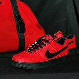 Мужские кроссовки Nike Air Force красные