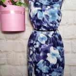 Платье миди коттоновое прямогосилуэта р 16 f&f