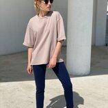 Женская базовая футболка бежевая
