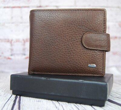 Классический мужской кожаный кошелек. Натуральная кожа Ек18-1