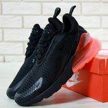 Мужские кроссовки Найк Nike Air Max 270. Black Red
