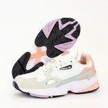 Женские кроссовки Adidas Falcon. White Grey Pink