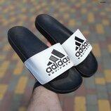 Шлепанцы мужские Adidas черно/белые